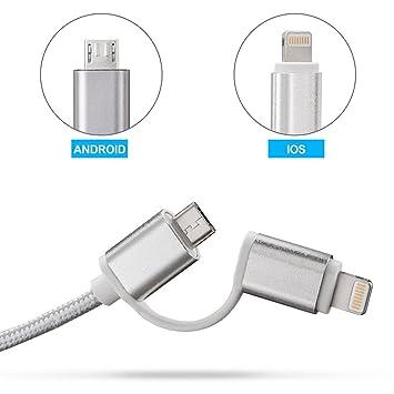 Cable USB, Cargador de sincronización de Nailon Trenzado, Cable ...