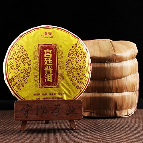 Shouyi Xuan Palace Pu'er Whole-set 7-cake Yunnan Pu'er Tea Cooked Tea Palace Cooked Tea Seven-tone Cake Tea 357g Total 2499G 守一轩 宫廷普洱 整提7饼云南普洱茶熟茶宫廷熟茶七子饼茶357g片共2499G by 守一轩