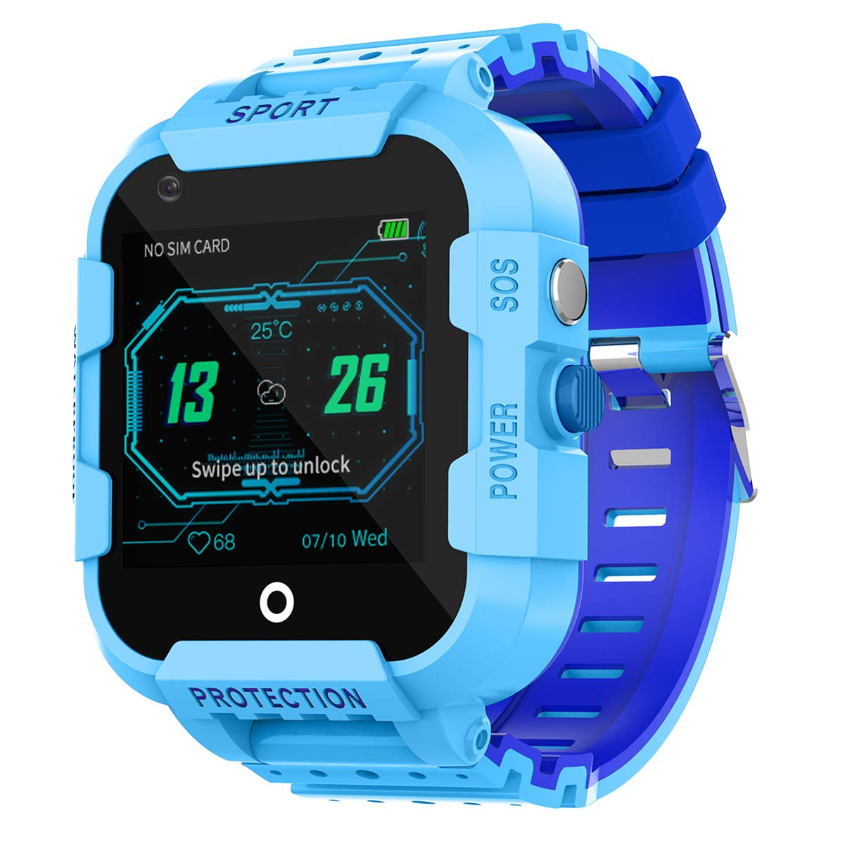 Kids Smart Watch GPS/LBS 4G Network SOS Video Voice Camera Watch Location Step Counter Wrist Watches for Boys Girls