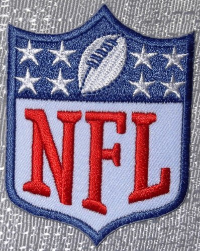 NFL SHIELD 8 Star Embroidered Logo -