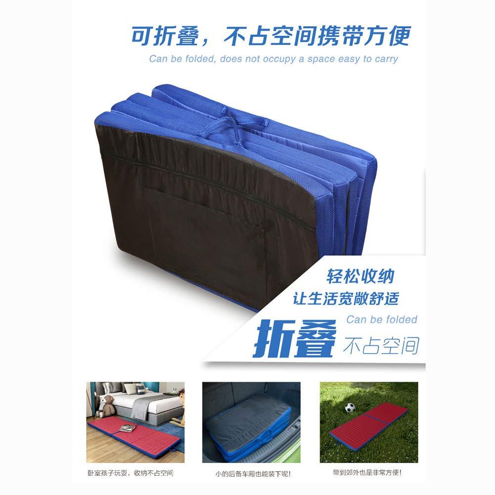 GFE Colchón, Colchón de Esponja Plegable de 4 colchones Tatami para Estudiantes. Cómodo colchón de Viaje, colchón Multifuncional Plegable,#1,28x71: ...