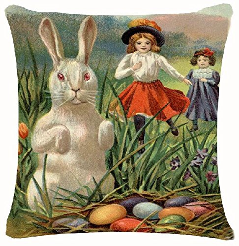 happy-easter-retro-smile-rabbit-color-egg-and-butterflies-cotton-linen-square-decorative-throw-pillo