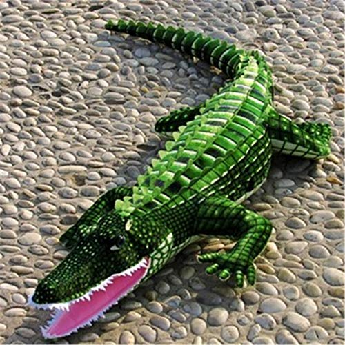 Crocodile Plush Stuffed Animal - Realistic Soft Plush Animals Stuffed Toys Crocodile for Kids' Pillow and Gifts,40 Inches or 100CM,1PC