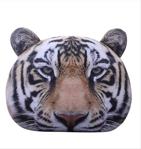 Wmai Cabeza De Tigre Animal De Peluche 3D Divertido Juguete ...