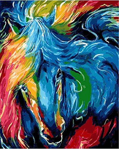 Color abstract horse DIY Painting, diy paint by