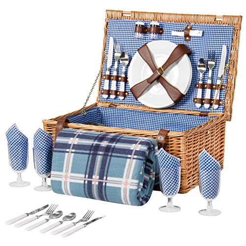 Cute Halloween Bulletin Board Ideas (4 Person Wicker Picnic Basket W/ Cutlery, Plates, Glasses, Tableware & Blanket)