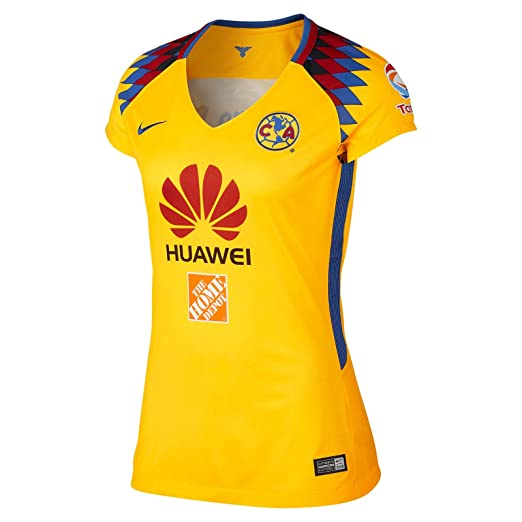 NIKE Womens Club America 2018 Stadium Third Jersey- Yellow M at ... 6c782804b