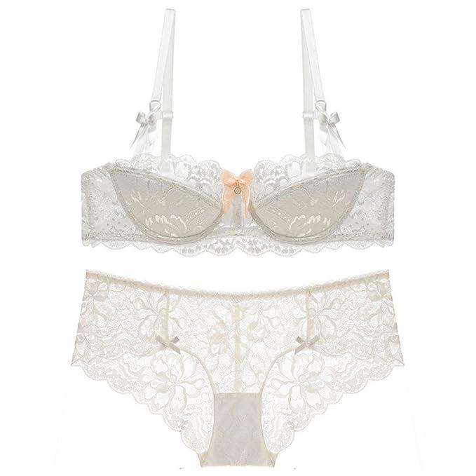5dfcc7ce088 Amazon.com  Zukzi Womens Cotton Underwire Bra and Panty Lace Underwear  Sets  Clothing