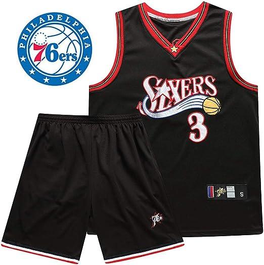 LSYR Traje de Uniforme de Baloncesto Iverson No. 3 Jersey 76Ers ...