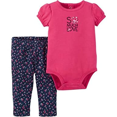 4221f2468 Child of Mine by Carters Newborn Baby Girl Bodysuit and Pant 2 Piece Set (0