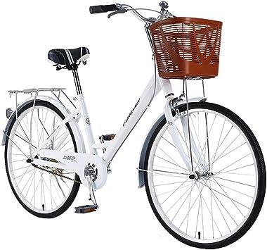 XIAOFEI Bicicleta Mujer 24 Pulgadas, Bicicleta Urbana Acero con Alto Contenido Carbono Velocidad úNica, para Hombres Y Mujeres, VehíCulos Recreativos: Amazon.es: Deportes y aire libre