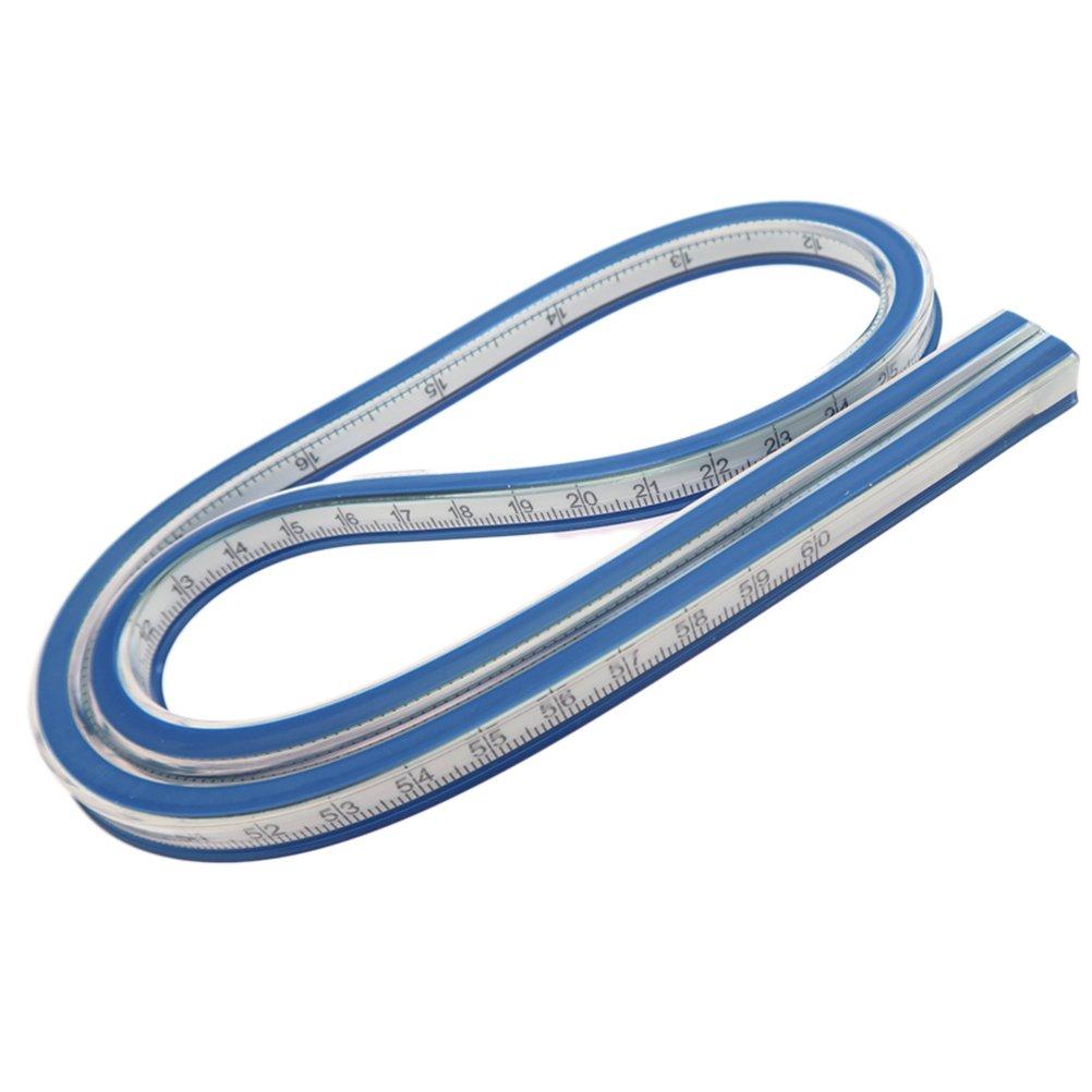 Healifty Flexible Règle Courbe Ruban à Mesurer Doux Outil de Dessin pour Surveying Dress Making 60cm