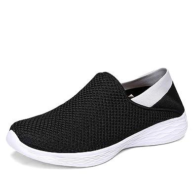 daad1028fe549 [RKHK] スリッポン レディース メンズ ウォーキングシューズ かかと踏める 靴 レディース安全靴 レディースシューズ