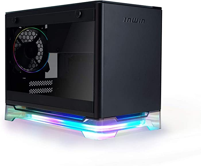 InWin A1 Plus Black Mini-ITX Tower with Integrated ARGB Lighting - 650W Gold 80 Plus Power Supply - Qi Wireless Phone Charger - Computer Chassis Case