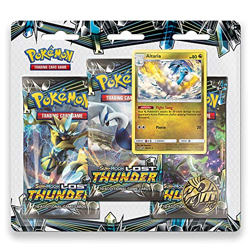 Pokemon TCG: Sun & Moon - Lost Thunder, Blister Pack Containing 3 Booster Packs and Featuring a Foil Promo Altaria