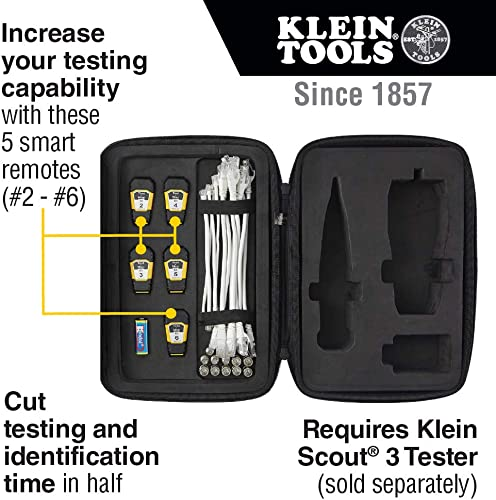 Klein Tools VDV770-850 Tester Remote Upgrade Kit for Scout Pro 3 Tester with Single-step Test Map Remotes 2 thru 6