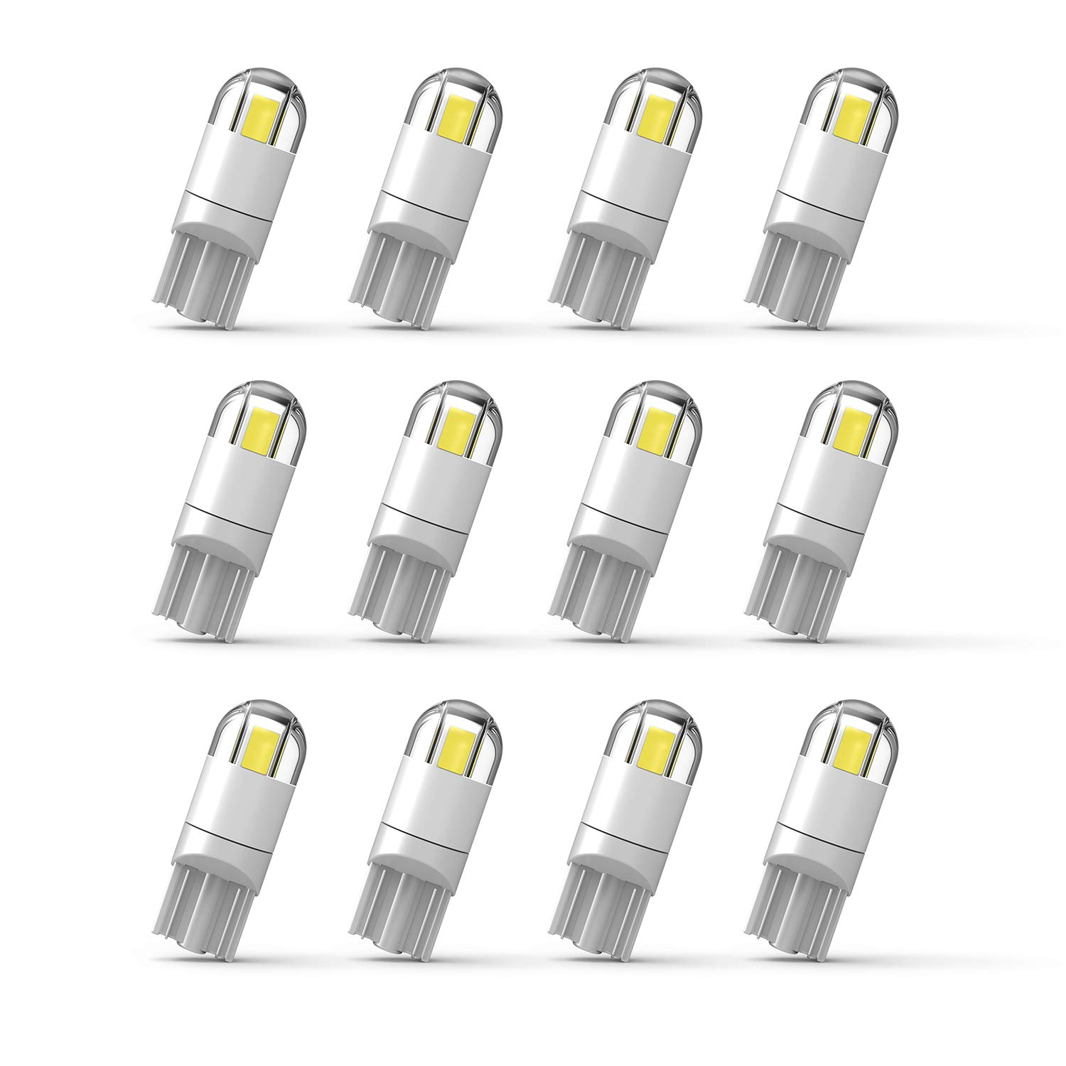 194 LED Bulb Extremely Bright 3030 Chipset T10 194 168 SMD W5W LED Wedge Light 1.5W 12V License Plate Light Turn Light Signal Light Trunk Lamp Clearance Lights (12pcs/pack)