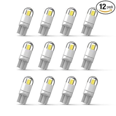 Amazon.com: 194 Bombilla LED extremadamente brillante 3030 ...