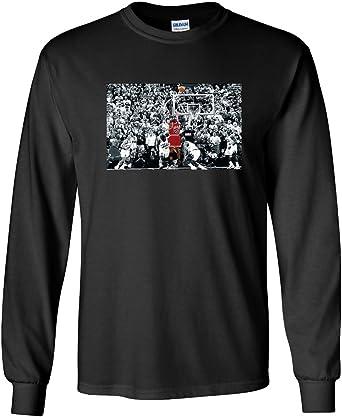 Andes Interpretativo Restaurar  Amazon.com: Camiseta de manga larga negra Chicago Jordan The Shot: Clothing