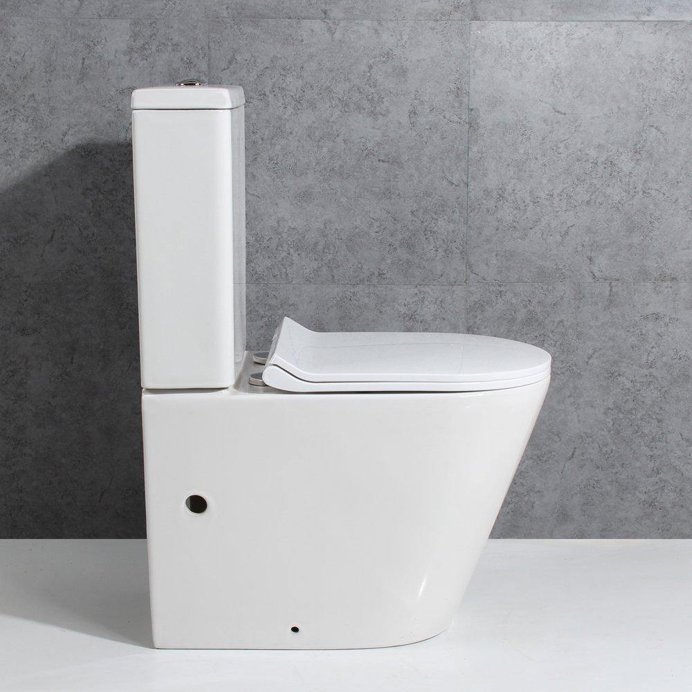 Basong Stand-WC Toilette Tiefsp/üler Kombination mit Sp/ülkasten Absenkautomatik