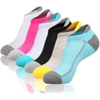 Heatuff Womens Low Cut Ankle Athletic Socks Cushioned Running Performance Breathable Tab Sock 6 Pack