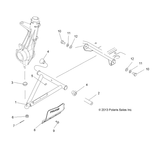 Polaris Magnum Scrambler Sportsman Front A-Arm and Diff Bolts 7512492 Set of 2