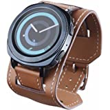 20mm Quick Release Genuine Leather Watch Band Cuff Bracelet Watch, Cuff Bracelet Watch Band Wrist
