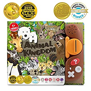 BEST LEARNING Book Reader Animal Kingdom - Educational Talking Sound Toy to Learn About Animals with Quiz Games for Kids Ages 3 to 8 Years Old