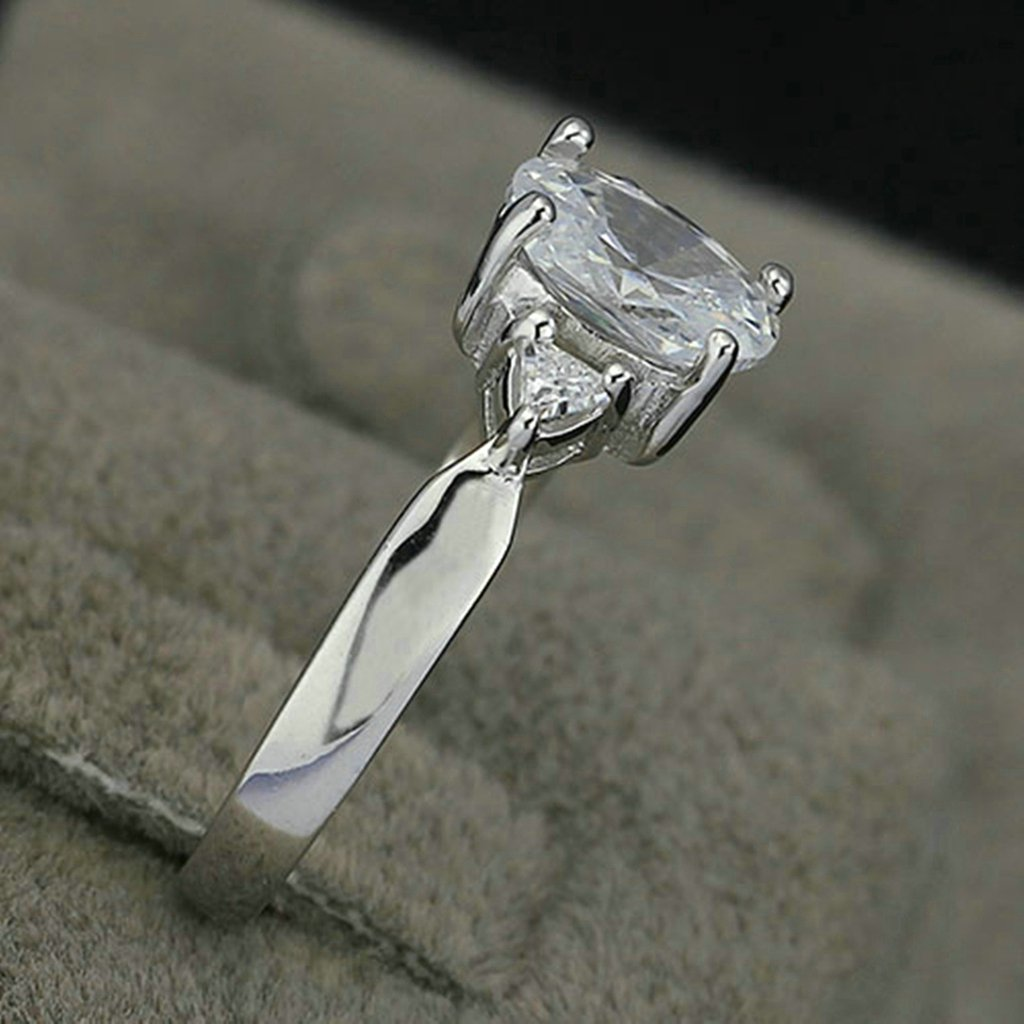 S925 Sterling Silver Solitaire 2ct Oval Cubic Zirconia Wedding Bands Gnzoe Womens Rings