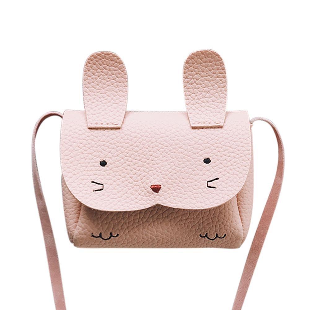 Silveroneuk Kids Rabbit Mini Messenger Bag Baby Girls Coin Purse Shoulder Crossbody Bag