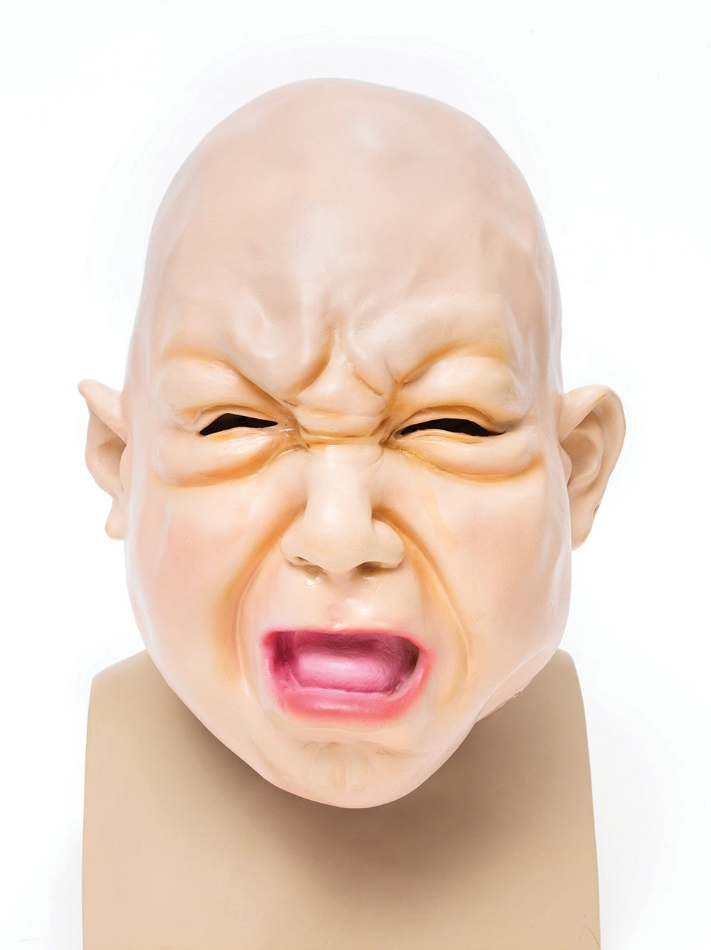 Crying Baby Mask Halloween Cosplay Creepy Cry Baby Adults Overhead ...
