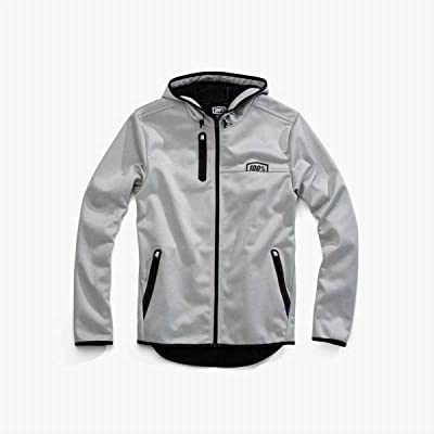 100% Percent Mission Hooded Softshell Zip Jacket - 39007 (Grey - S)
