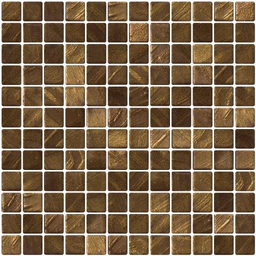 Susan Jablon Mosaics - 1 Inch Bronze Gold - Recycled Tile