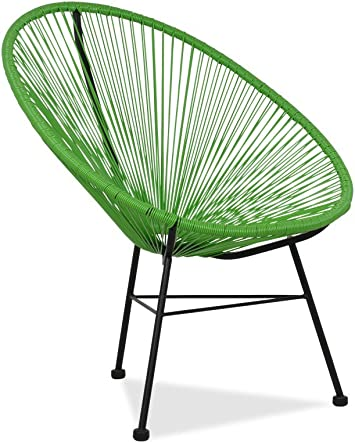 Acapulco silla Verde Sillón metálico cuerdas verdes para jardín ...