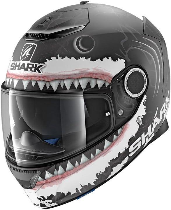 Caschi moto Shark Shark SPARTAN LORENZO WHT SHARK MAT KWA
