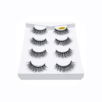 f20d57cee6c 2/4 pairs natural false eyelashes fake lashes long makeup 3d mink lashes  eyelash extension