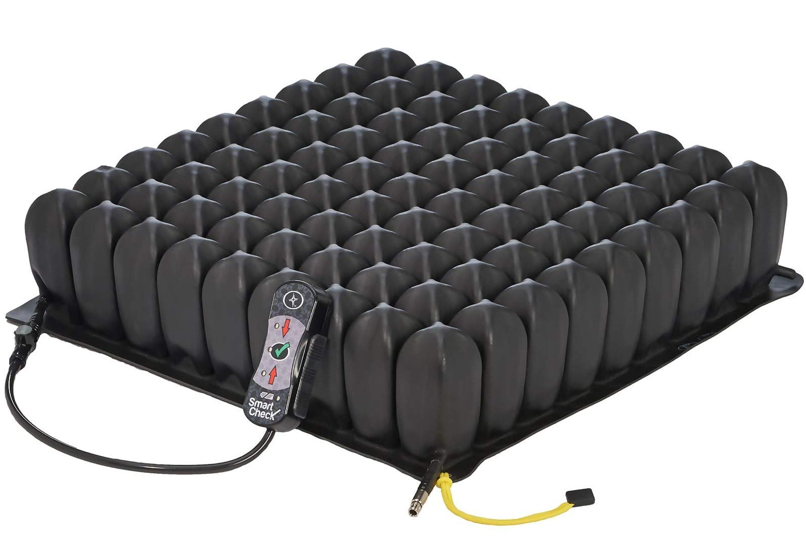 Roho High Profile Wheelchair Cushion with Smart Check Pressure Sensor Remote, 18 x 16 - Adjustable Pressure Relief Air Seat - Conforms to Body Shape and Weight - with Pump, Cover, Repair Kit by Roho