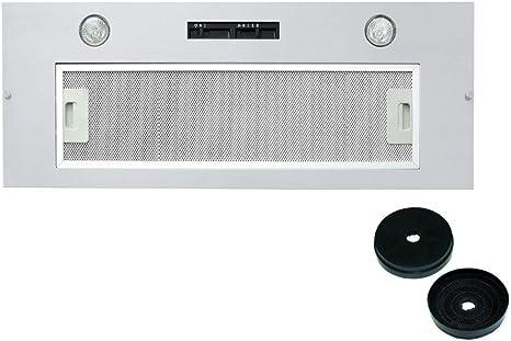 Campana extractora de cocina integrada Cookology BUCH520SS de 52 cm y con filtros de carbono: Amazon.es: Grandes electrodomésticos