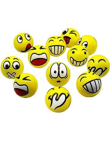 SMUER Pelota Anti-Presión Pelota Emoji Estrés Cara Juguete Descompresión Pelota Emoji Niños Adultos 12PCS