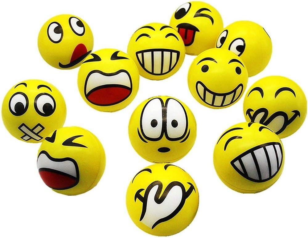 SIMUER Pelota Anti-Presión Pelota Emoji Estrés Cara Juguete ...