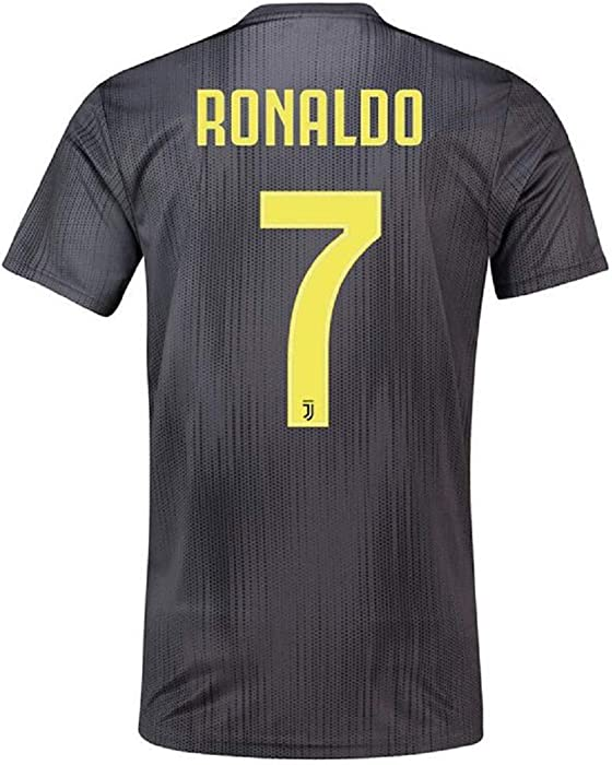 the latest 59c53 86dbf Men's Ronaldo New Away Jerseys 18-19 Juventus #7 Football Jersey Soccer  Jersey Black(S-XXL)