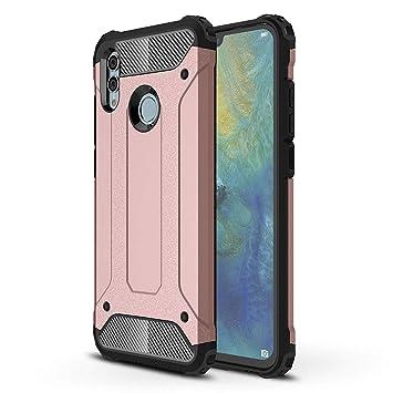 FLHTZS Funda Huawei P Smart (2019) Carcasa Caja de teléfono móvil, combinación TPU + PC, Hermosa Mano de Obra(Rosado)