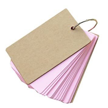 Brosuper Memory Word Cards Blank Fillet Small Card Memo Pad Notepads