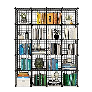 Tespo Metal Wire Storage Cubes, Modular Shelving Grids, DIY Closet  Organization System, Bookcase, Cabinet, (20   Regular Cube)