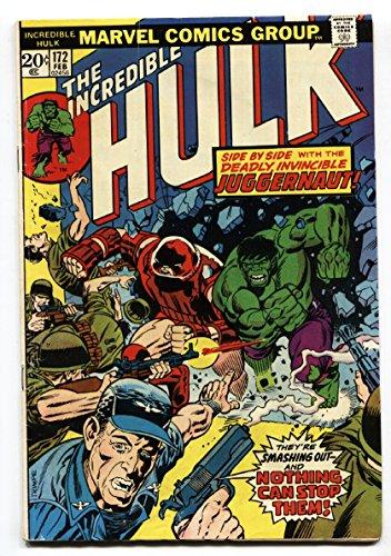 INCREDIBLE HULK #172 comic book Juggernaut origin-Marvel 1974 ()
