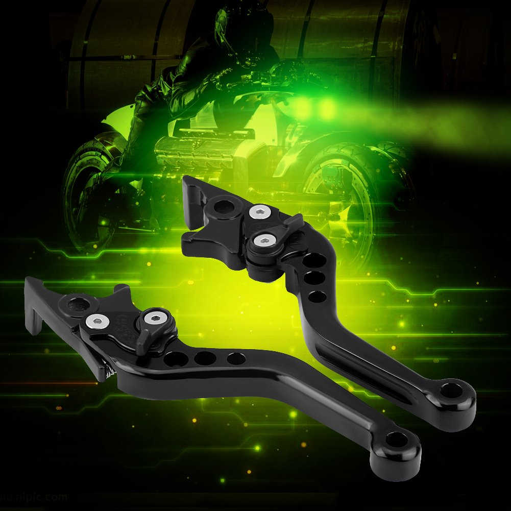 Palanca de freno de disco doble, palanca de embrague de la palanca de embrague de la motocicleta de aleación de aluminio universal Palancas (Negro): ...