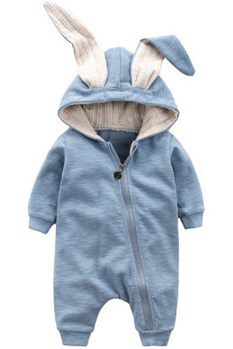 Little Baby Mädchen Kleinkind Ein Stück Karikatur Lange Ärmel Kaninchen 3D Ohr Spielanzug Overalls Jumpsuit