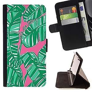 Momo Phone Case / Flip Funda de Cuero Case Cover - Hojas jungla Bosque Naturaleza - LG G4