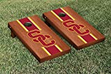 Southern California USC Trojans Regulation Cornhole Game Set Rosewood Stained Stripe Version