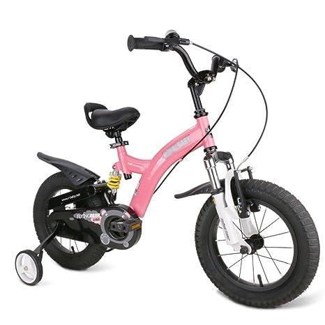 MAZHONG Bicicletas Bicicleta para Niños Rosa, Rojo, Amarillo Tamaño 12 Pulgadas, 14 Pulgadas